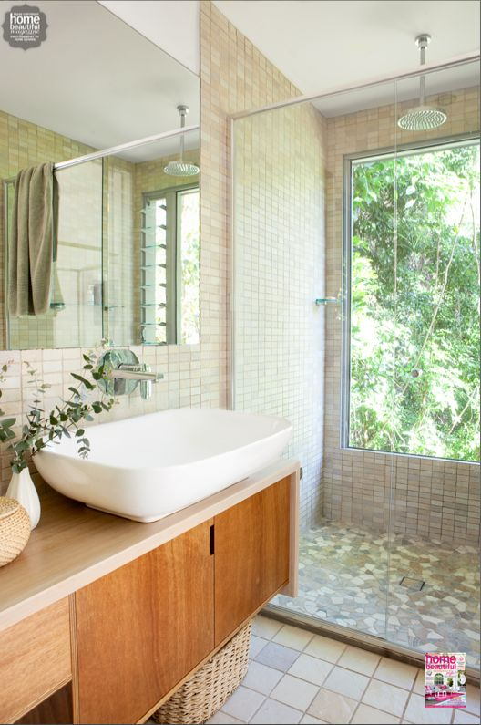Feel like your showering in the trees with a well placed bathroom window