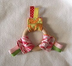 Perfect for a teething boy or girl...I must get busy before teething starts again!