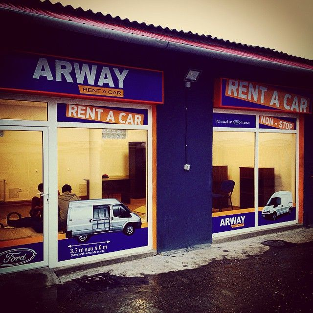 Branding the new Arway rent-a-car office