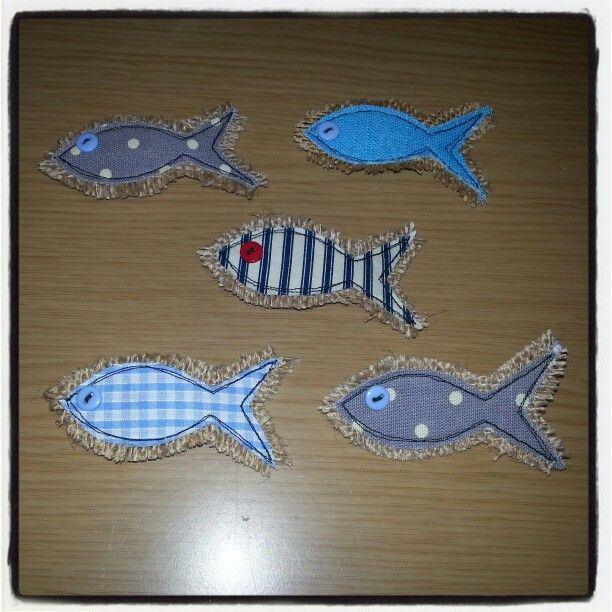 Little fishy brooches and hairclips