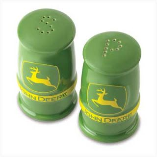 Salt and pepper shakers with some John Deere Flare!