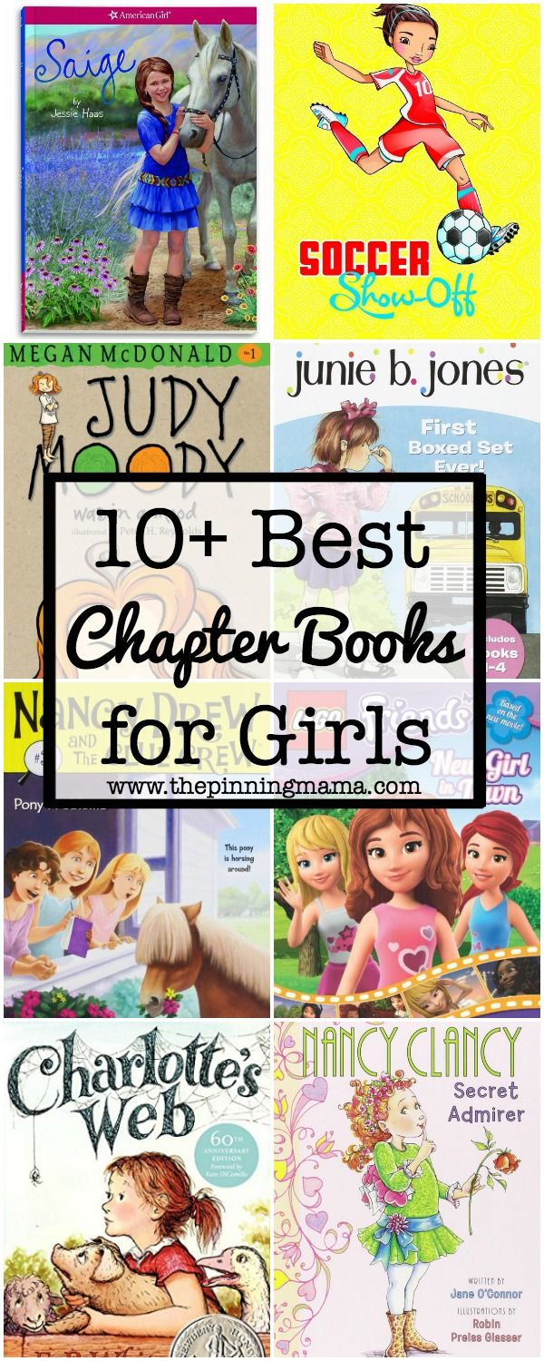 10+ Chapter Books for Girls - this is a great list of book ideas for first, second, third and fourth grade girls!