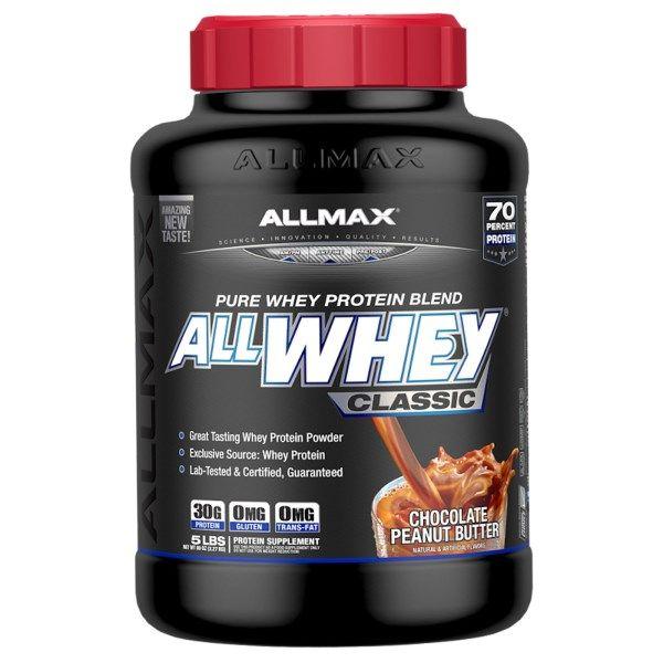 ALLMAX Nutrition, AllWhey Classic、100%ホエイプロテイン、チョコレートピーナッツバター、5 lbs (2.27 kg)