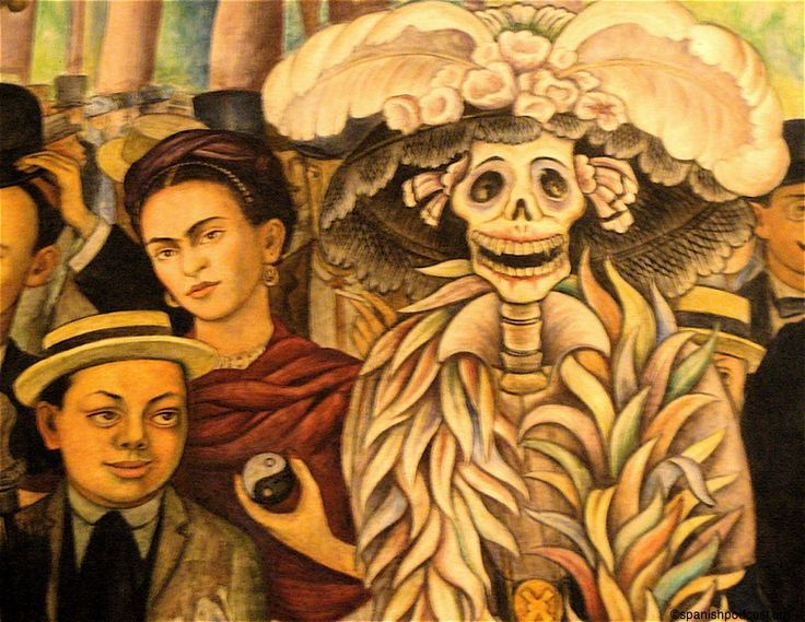 Diego rivera la catrina and mexico on pinterest for Diego rivera day of the dead mural