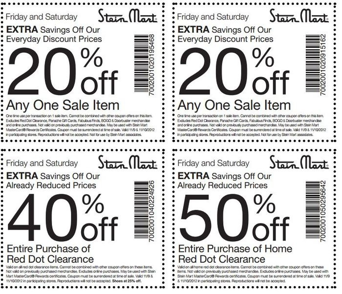 photograph regarding Stein Mart Printable Coupon called Steinmart retail outlet discount codes - H2o moreover discount coupons