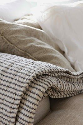 would love a thin quilted ticking blanket...