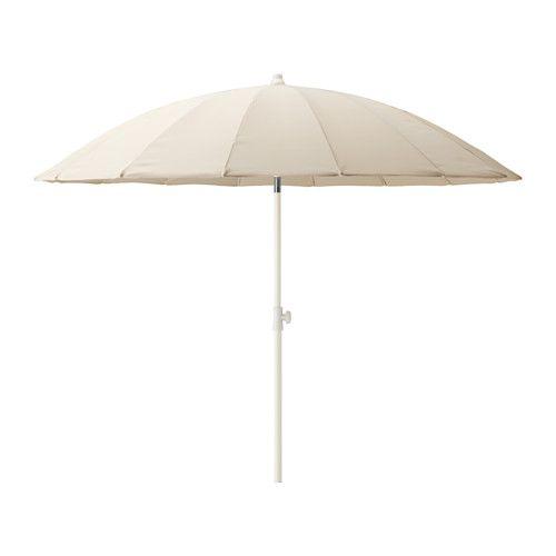 SAMSÖ Parasoll, vinkelbart, beige vinkelbart/beige 200 cm