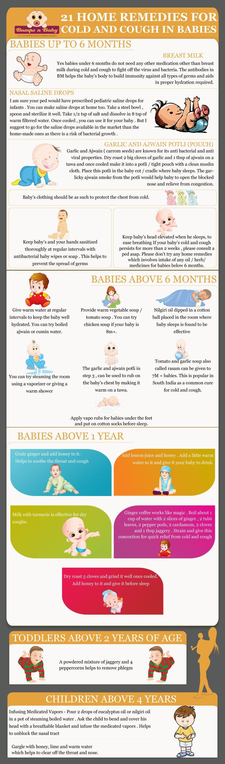 21 home remedies for cold and cough in babies and kids