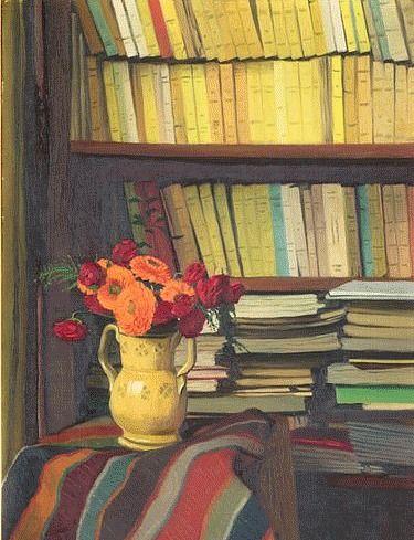 La Bibliothèque by Félix Vallotton