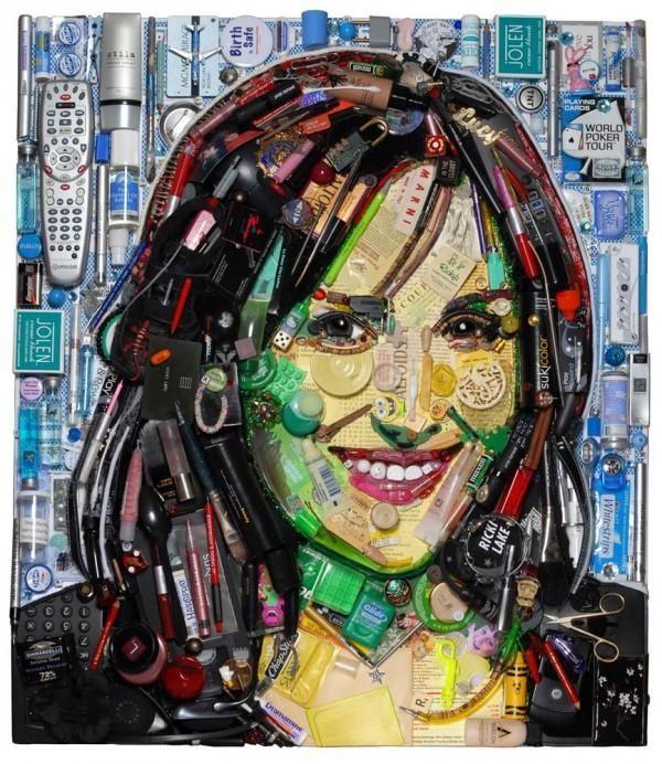 Celebrity Trash Art by Jason Mecier