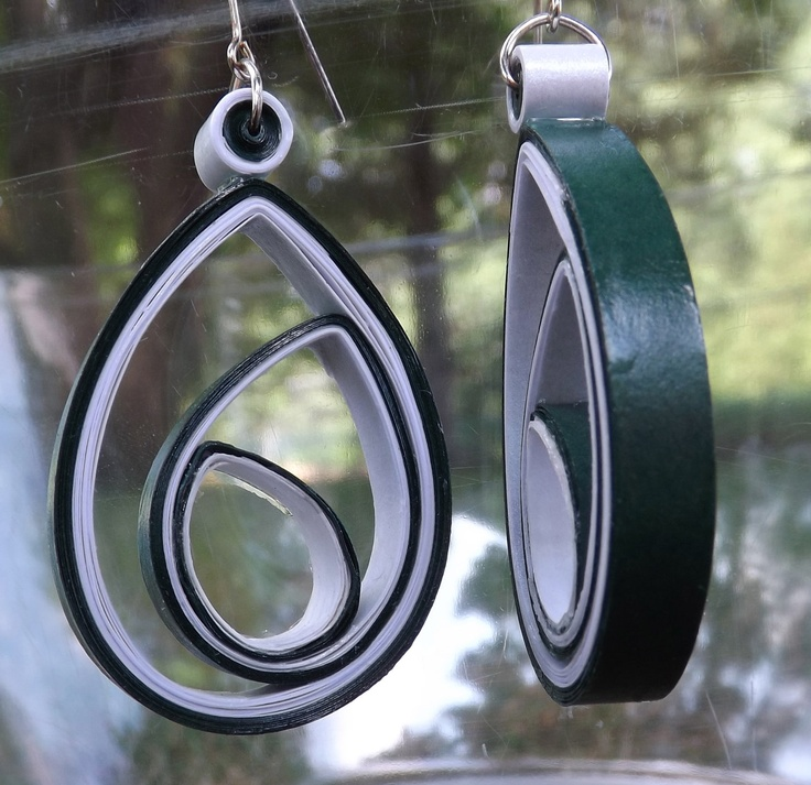 Medium Paper Quilled Earrings by QuillingMaven on Etsy, $15.00