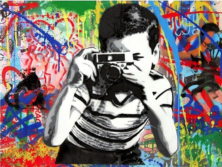 Mr. Brainwash, Smile 2016, Stencil and Mixed Media on Paper