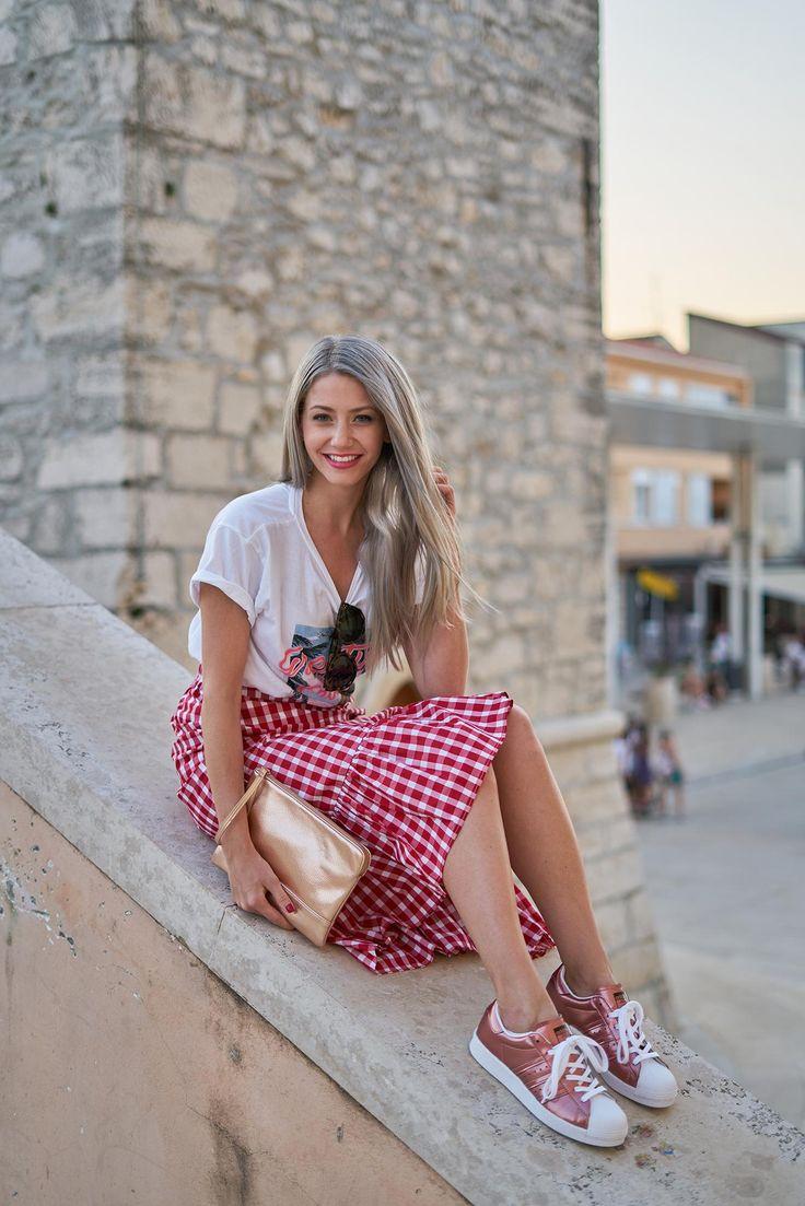 Top – Mango / Skirt – Zara / Bag – F&F / Sunglasses – Céline / Shoes – Adidas from sneakerbox.hu