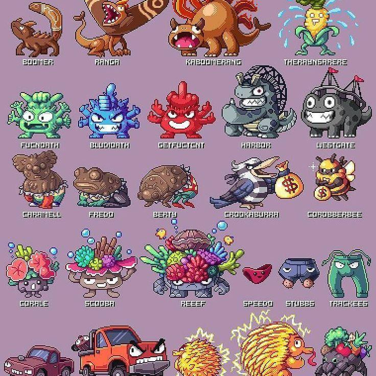 Pixel Australian Pokémon by Paul Robertson #gameart #pokemon #oz  http://ift.tt/2sAAzYy