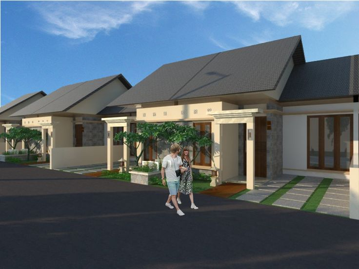 housing with Balinese concept #architecture #design #exteriordesign #render #sketchup #vray