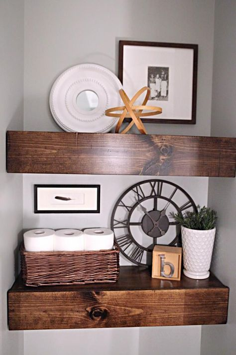 chunky bathroom shelves...I want these for our nook...