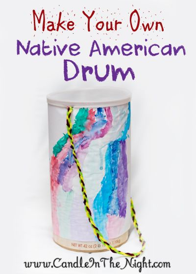 Do you do a Thanksgiving play?  Come learn how to make a Native American drum to use while you act out the story of the first Thanksgiving!  | candleinthenight.com