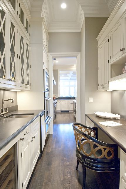 Butler Pantry Design Ideas and this pantry design was the first inspiration that i had to create a butlers type Butlers Pantry Combined With Desk Space White Kitchen