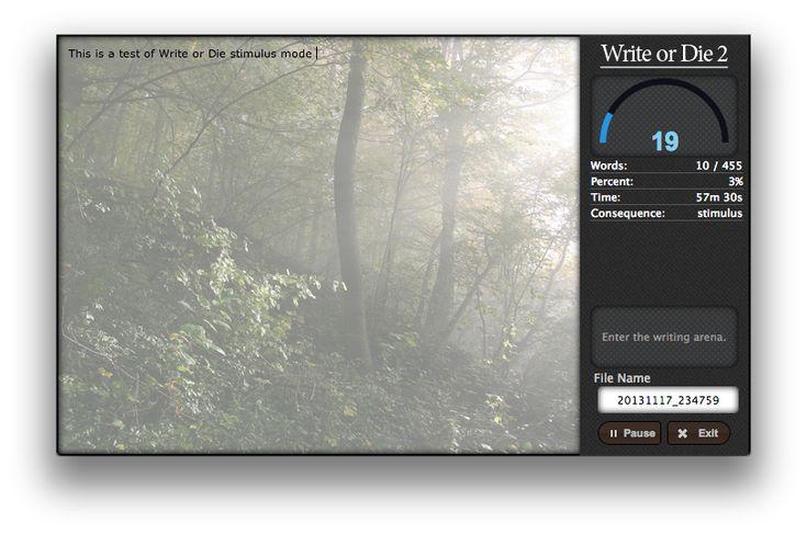 Write or Die 2 - Writing/Brainstorming tool