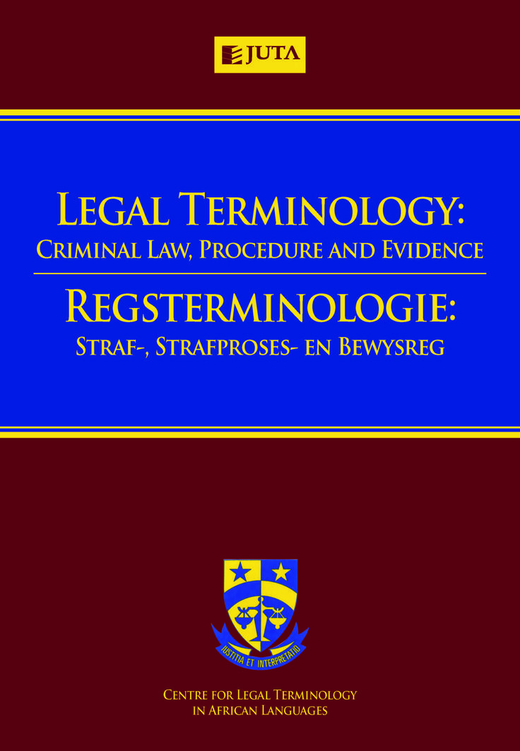 This dictionary bridges the gap between the world of everyday language and the world of legal language. Users can access over 20 000 legal words, each of which is explained in plain English for the benefit of people without a legal background, as well as legal practitioners, law students and other members of the legal profession.  To be published 13 March March 2015 by Juta Law.