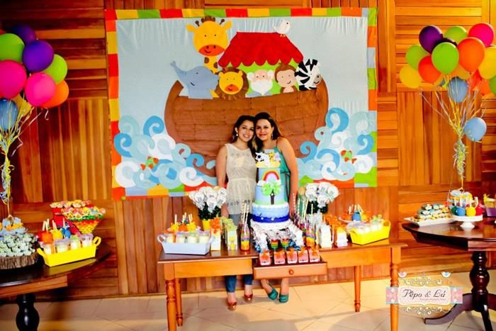 Noah's Ark Themed 4th Birthday Party - Kara's Party Ideas - The Place for All Things Party