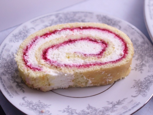 Cranberry-Raspberry Cake Roll. This is one gorgeous roulade!