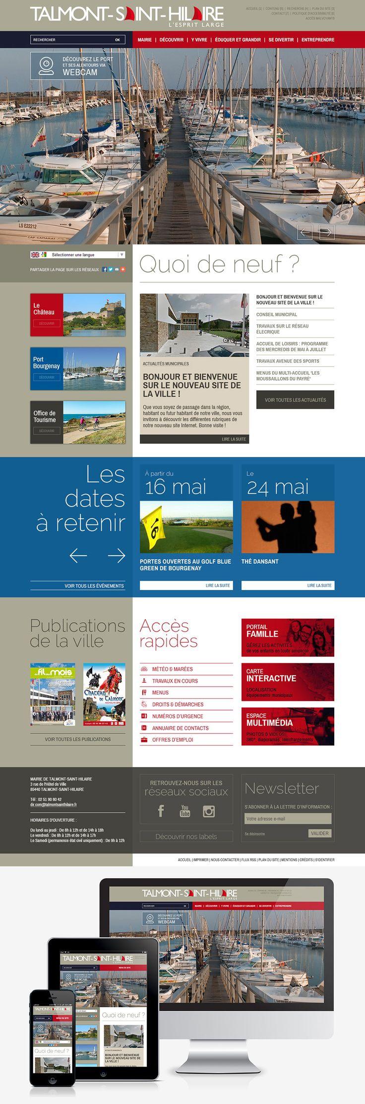 #Webdesign #Responsive #Mairie #Ville #Colterr : la refonte du site web de la ville de Talmont-Saint-Hilaire (85) www.talmont-saint-hilaire.fr