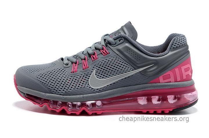 Air Max 2013 Women Shoes Running Shoes Mesh Grey Pink