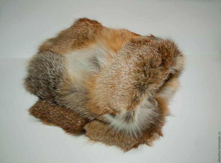 Купить Коврик из натурального меха лисы. - рыжий, лиса, мех, мех натуральный, мех лисы
