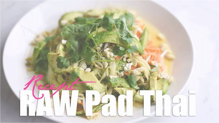 RAW Pad Thai ♥ Recept
