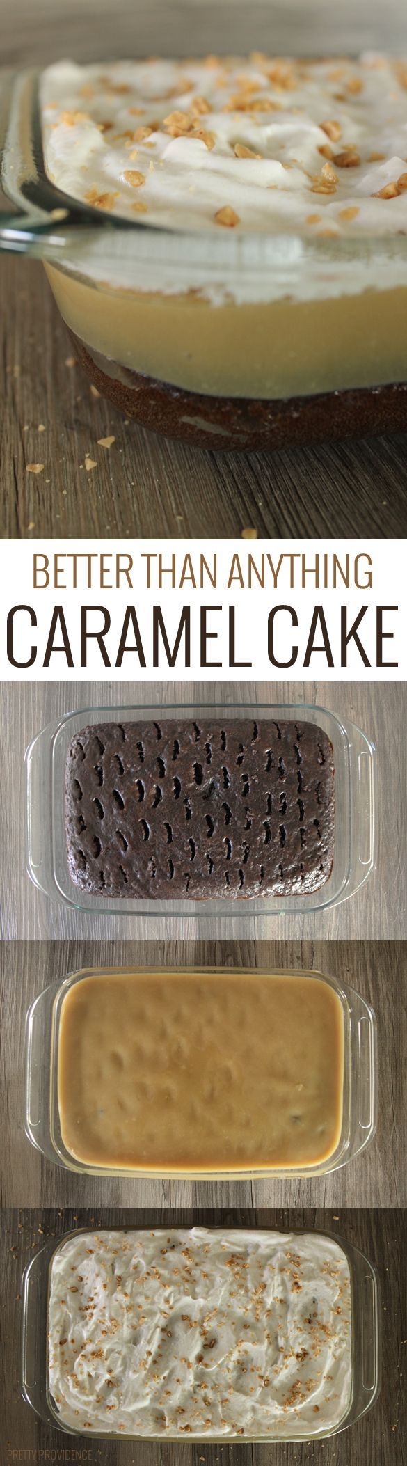 This cake is called better than anything cake because it is literally so hard to control yourself around it! I mean, it is so good, it is literally impossible to stay away, so make sure make it for a party or gathering so it's gone quick! Haha