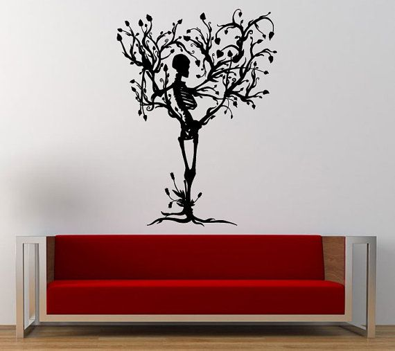 Skeletal Tree Skeleton Tree Wall Decal Sticker Vinyl Mural Leaving Bedroom  Room Home Decor FREE SHIPPING