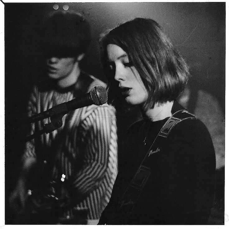 Neil and Rachel of Slowdive taken at the Charlotte, Leicester in 1991. Photo by Greg Neate.