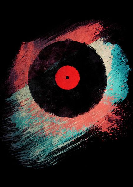 'Vinyl Record  - Modern Vinyl Records' by Denis Marsili on artflakes.com as poster or art print $17.61