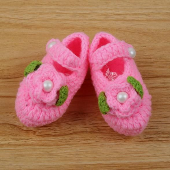 0-12 М Ручной Малышей Новорожденного Младенца Мальчики Девочки Хорошие Крючком Вязать Мягкая Обувь Для Ходьбы