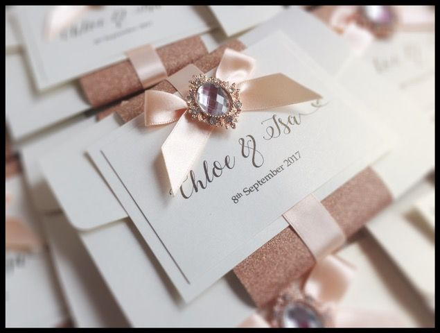 102 best diy wedding invitations idiycomp winners images on beautiful wedding invitation in rose gold and cream made by handmade by clare competition stopboris Image collections