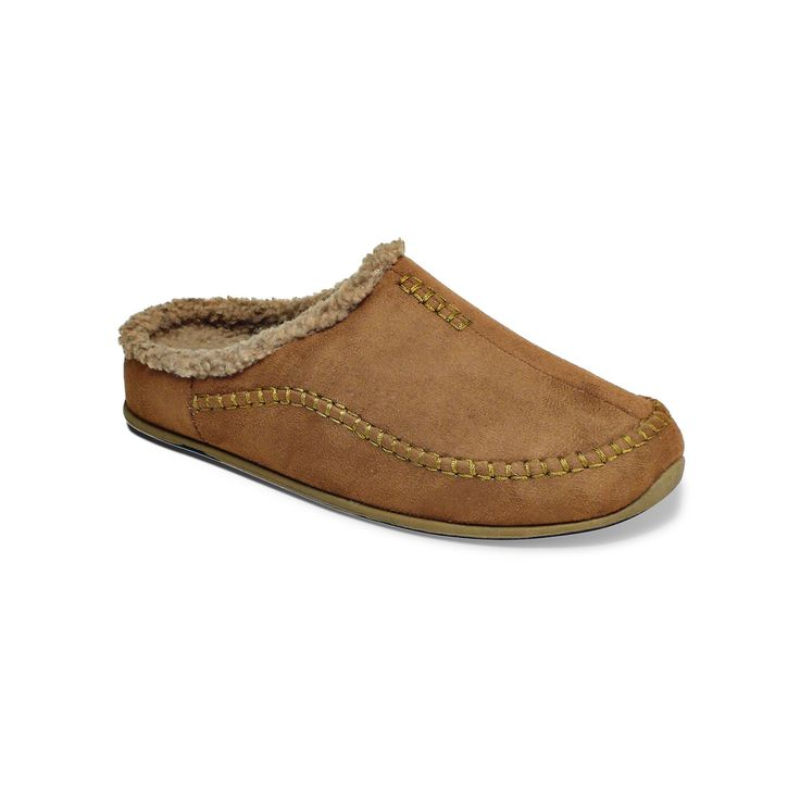Deer Stags Slipperooz Nordic Men's Clog Slippers, Size: medium (12), Red/Coppr (Rust/Coppr)