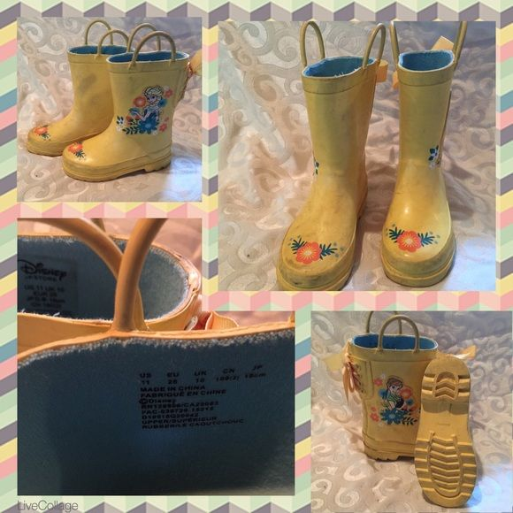 Disney Other - 💠Frozen Size 11 Toddler Rain Boots Gently Loved