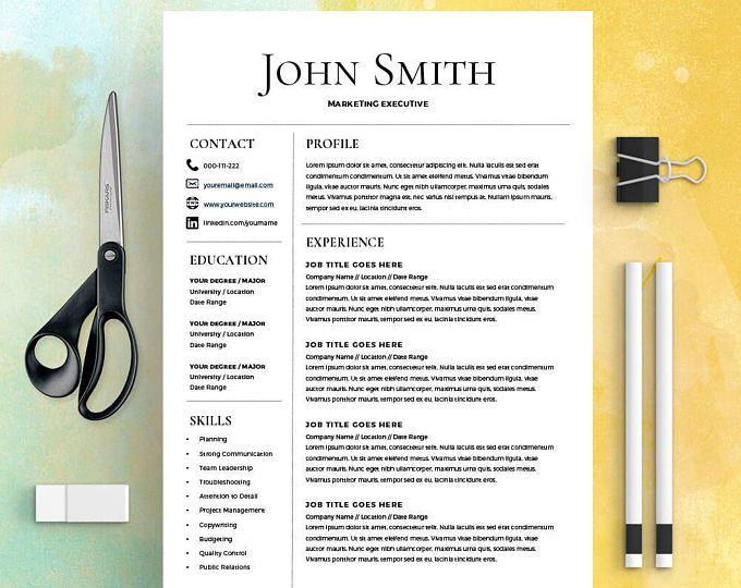 Více než 25 nejlepších nápadů na Pinterestu na téma Simple resume - resume template on microsoft word