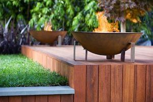EcoSmart Fire Dish by Jason Hodges - very cool modern fire option made of corten steel