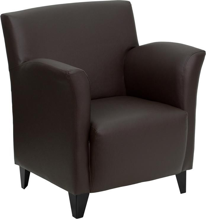 office reception chairs for sale. flash furniture hercules roman series brown leather reception chair - office chairs by for sale
