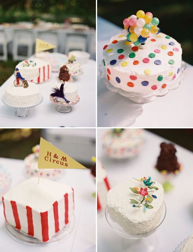 Carnival cakes for any party on #GreenWeddingShoes!