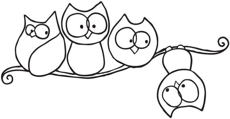 Stamping Bella Unmounted Rubber Stamp-Branching Out Owlies