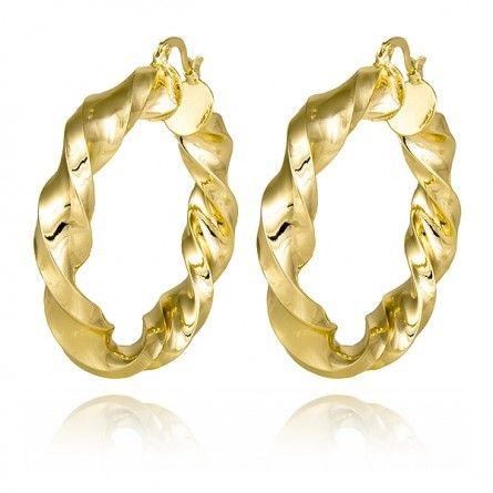Ciekawe kolczyki podkreślą Twoją kreację! Wykonane ze stali szlachetnej pokrytej warstwą 18K złota. #biżuteria #kolczyki #MarcoDiamanti