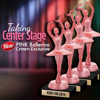 New Pink #Ballerina #Trophy #Award http://www.crownawards.com/StoreFront/TR1300.Dance.Trophies.Trophy_On_White_Marble.prodTrophy Awards, Pink Ballerinas, Dance Trophy, Ballerinas Trophy