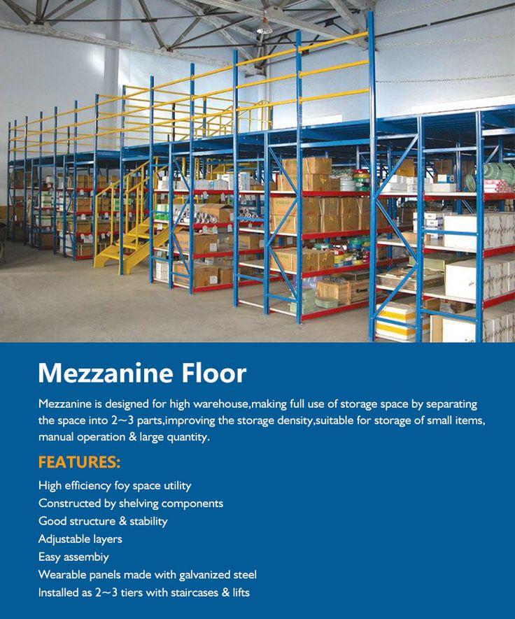 Angle Iron Steel Storage Mezzanine Rack For Mezzanine