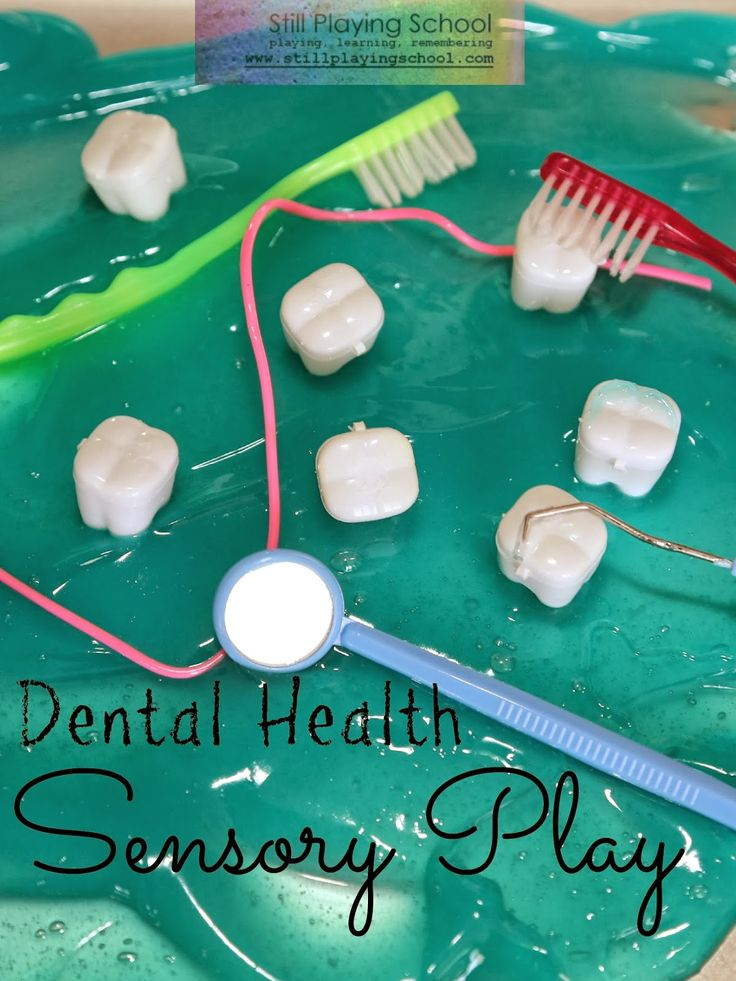 Dental Health Month Sensory Play (using Tooth Saver Necklaces!!) from Still Playing School