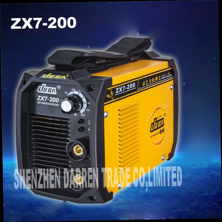 103.25$  Buy now - http://ali3ih.worldwells.pw/go.php?t=32776545479 - 2pcs new portable  welder IGBT inverter portable welding machine  arc welder ZX7-200 with electrode holder and earth clamp