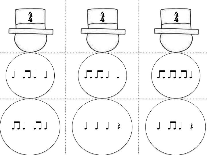 Frosty the Snowman and a meter sorting game with composition extension activity