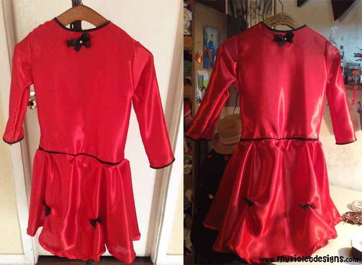 Disfraz de Dama Antigua, vestido con lazo y vincha con peineta de fieltro y encaje. myvioletdesigns.com